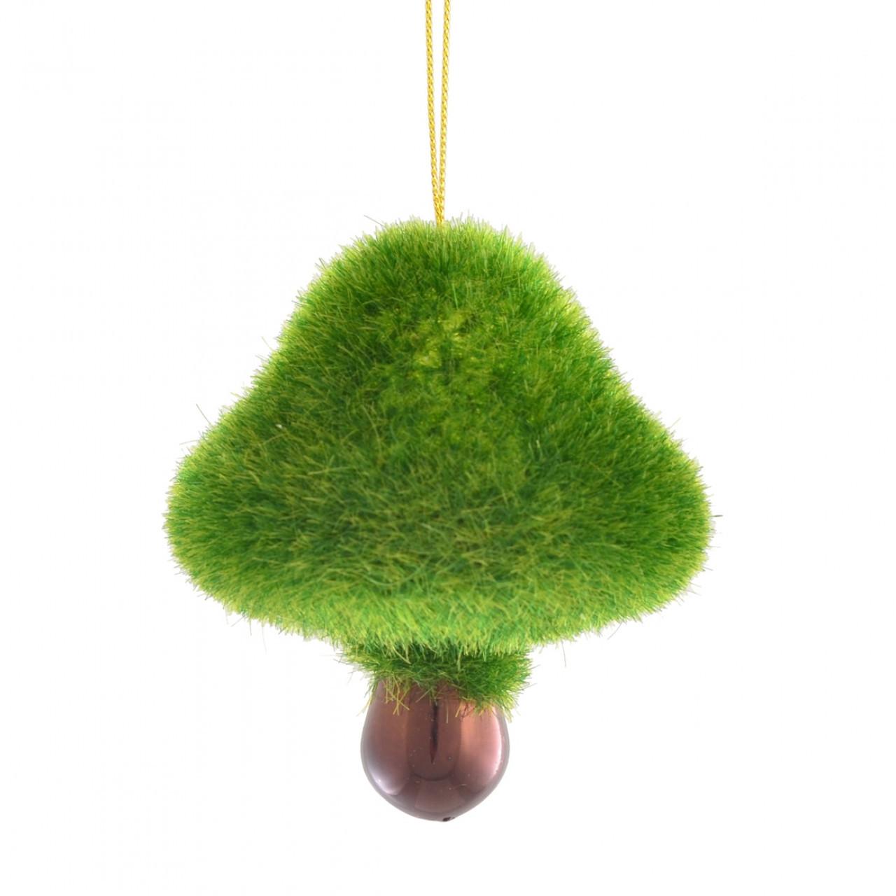 """Игрушка новогодняя """"Лесной гриб"""" d-5.5 см, зеленый"""