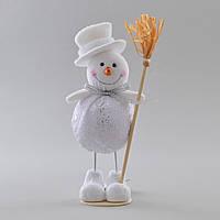Снеговик декорированный серебром
