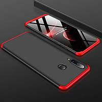 Чехол GKK 360 для Huawei P30 Lite бампер Black-Red