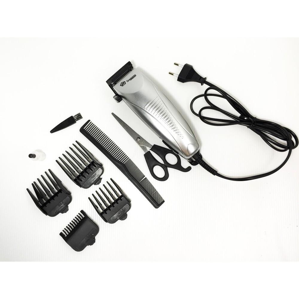 Машинка для стрижки волос Domotec MS 4600 + ножницы + насадки + расческа!