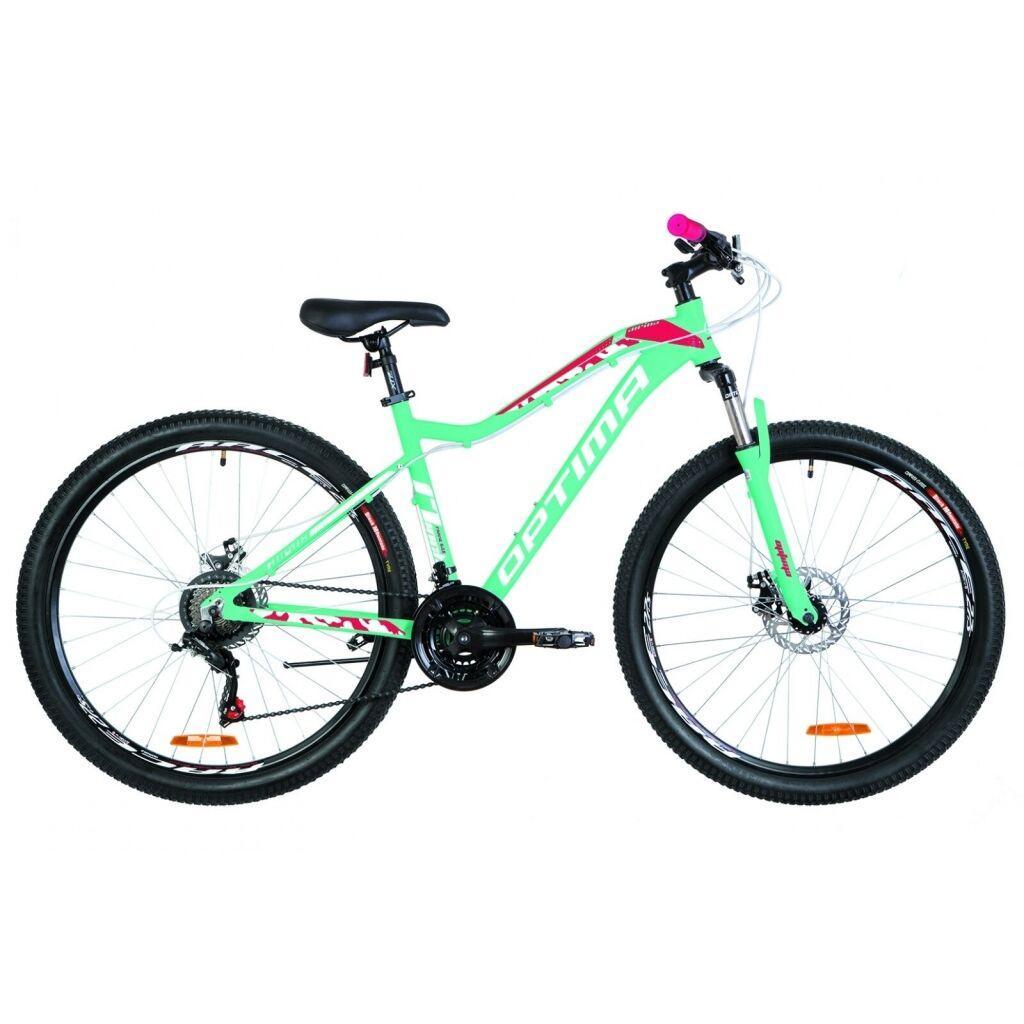 """Велосипед Optimabikes 27.5"""" ALPINA DD 2019 (голубой с малиновым) (OPS-OP-27.5-036)"""