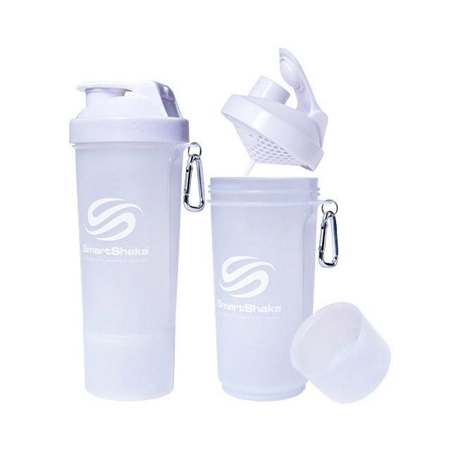 Шейкер для спортивного питания SmartShake Slim NEON Pure White 500 мл белый