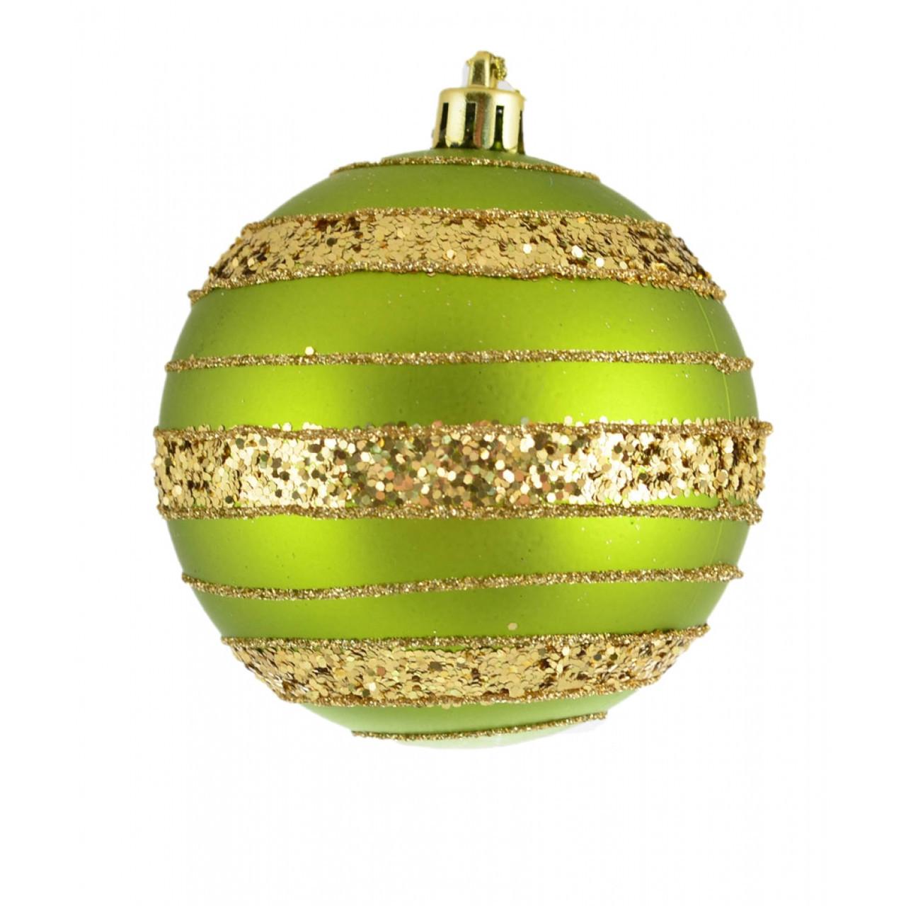 """Шар """"Золотое яблоко"""", зеленый d-8 см"""