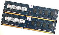 Оперативная память Hynix DDR3 4Gb (2Gb+2Gb) 1333MHz PC3-10600U 1R8 CL9 (HMT325U6CFR8C-H9 N0 AA) Б/У