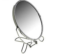 🔝 Двустороннее косметическое зеркало для макияжа на подставке Two-Side Mirror 19 см., Косметичні дзеркала, Зеркала косметические