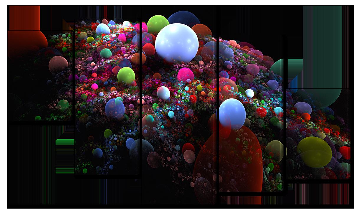Модульная картина Interno Эко кожа Жемчуг абстракция 185х106см (A1658XXL)