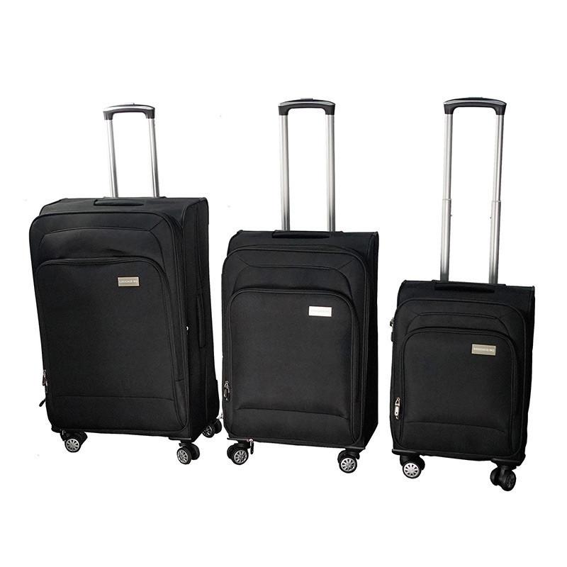 🔝 Набор дорожных чемоданов, на колесах, LUGGAGE HQ, 3 шт., большой, багажный, ручной, цвет - чёрный , Разные товары для туризма и отдыха, фото 1