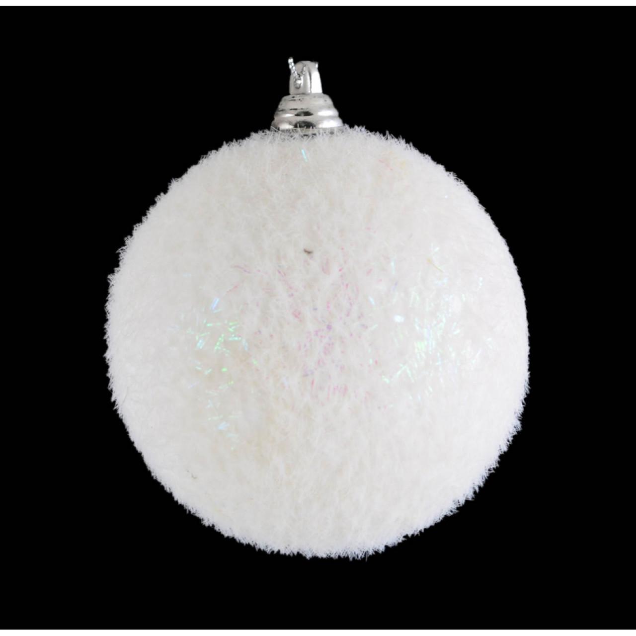 "Шар ""Снежок"" белый d-8 см"