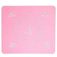 🔝 Коврик для выпечки, и раскатывания теста, силиконовый, антипригарный, 29x26 см., цвет - розовый , Антипригарные коврики