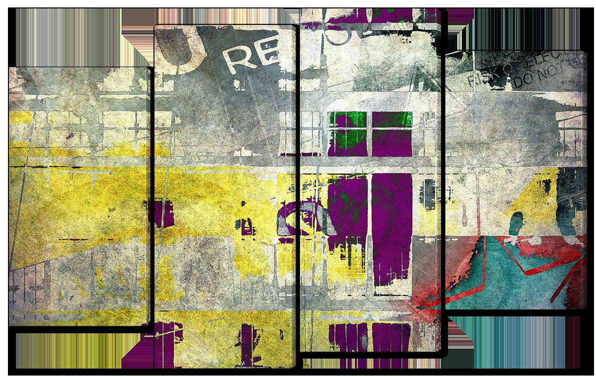 Модульная картина Interno Эко кожа Абстрактный фон140x89см (A1659XL)