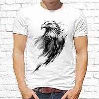 Мужская футболка Push IT с принтом Орел черный