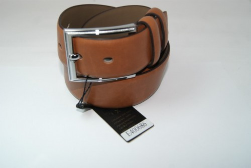 Ремень мужской кожаный классический (коричневый)