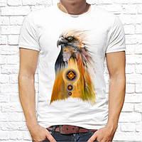 Мужская футболка Push IT с принтом Орел и Девушка