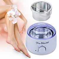 Воскоплав баночный для депиляции в домашних условиях Pro-wax 100, восконагреватель, Эпиляторы, женские бритвы