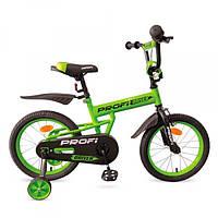 Двухколесный велосипед 16 дюймов PROF1 L16113, салатовый
