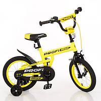 Двухколесный велосипед 16 дюймов PROF1 L16111, желтый
