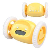 🔝 Убегающие часы-будильник Clocky - желтый , Електронні настільні годинники