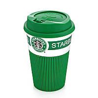 Термокружка Starbucks Старбакс керамическая термочашка, Зеленая, кружка с доставкой по Украине , Термокружки