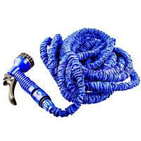 🔝 Поливочный шланг с распылителем X-hose (Икс Хоз) Magic Hose на 60 метров - синий  и Киеву , Поливальні шланги, системи поливу