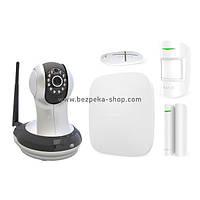 Комплект сигналізації Ajax StarterKit white + IP-відеокамера AI-361