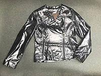 Детская куртка косуха для девочки,детская,весна-осень 9-10 лет