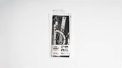 Набор линеек. AIHAO AHLB00423.4 линейки в эластичном конверте со змейкой