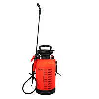 🔝 Опрыскиватель, ОП-5, Pressure Sprayer, для сада и огорода, 5 л., Красный , Садові обприскувачі