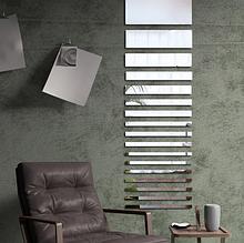 Комплект акриловых зеркал 6 шт «Прямоугольники» серебро
