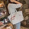 Тканевая сумка-шоппер с надписями опт