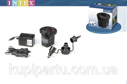 66634 Насос электрический Quick-Fill, 12В/220В адаптер, 3 насадки в комплекте