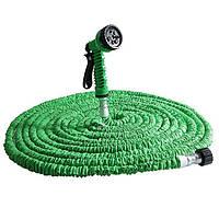 🔝 Поливочный шланг Икс-Хоз Xhose 30 м. Magic Hose зелёный - для огорода, сада и дачи  , Поливальні шланги, системи поливу