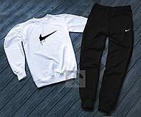 Мужской спортивный костюм в стиле Nike black-white осенний / весенний