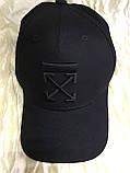 Чорна бейсболка з бавовни з чорною вишивкою розмір 58-60, фото 2