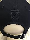 Чорна бейсболка з бавовни з чорною вишивкою розмір 58-60, фото 3