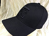 Чорна бейсболка з бавовни з чорною вишивкою розмір 58-60, фото 4