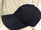 Чорна бейсболка з бавовни з чорною вишивкою розмір 58-60, фото 6