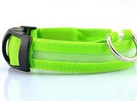 🔝 Светодиодный ошейник для собак, аккумуляторный, с USB зарядкой, размер L: 45-51 см., Нашийники, повідці, шлейки для тварин, Ошейники, поводки,