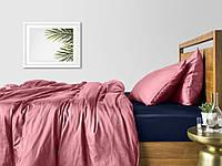 Комплект семейного постельного белья сатин PUDRA BLUE-S