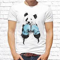 Мужская футболка Push IT с принтом Панда боксер