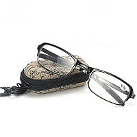 🔝 Очки, складные, в жестком чехле, Черного цвета, очки для зрения , Интересные товары для дома