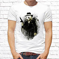 Мужская футболка Push IT с принтом Панда с автоматом