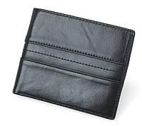 Мужское портмоне  из натуральной телячья кожи TIDING BAG YP-202A Черный