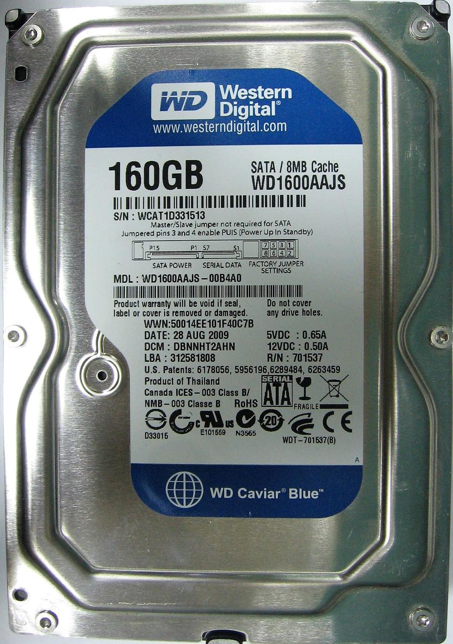 HDD 160GB 7200rpm 8MB SATA II 3.5 WD WD1600AAJS WCAT1D331513