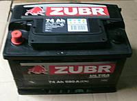 Аккумулятор 6СТ-74 АЗ Зубр, фото 1
