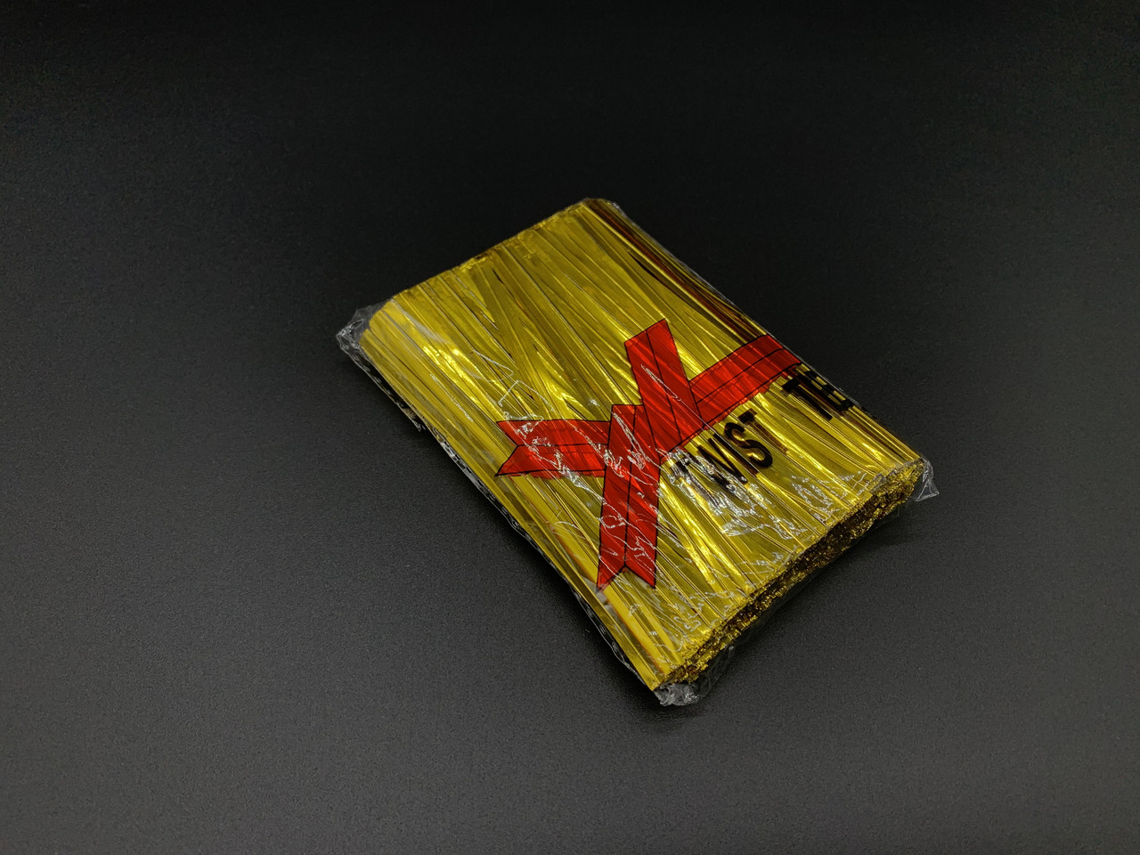 Скрутки завязки для пакетов. Фольгированая золото. 10см. 760шт/уп
