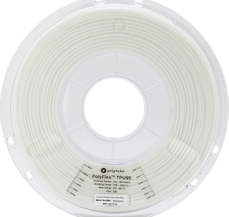 Пластик в котушці PolyFlex TPU95 1,75 мм, Polymaker, 0.75 кг