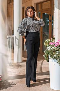 Женский костюм с леопардовым принтом, размеры 50-56