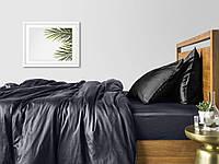 Комплект семейного постельного белья сатин GREY BLACK-P