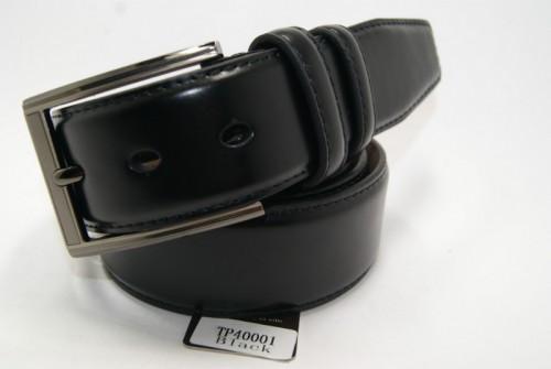 Ремень мужской кожаный классический (черный) ALON