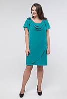 Платье Miledi Валенсия изумрудный 56